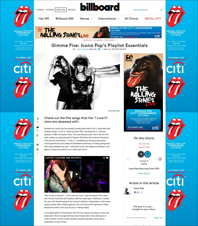 Icona_Pop_Billboard_Number 13